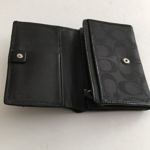 Coach Bags - Coach black signature wallet